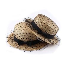 100 unids lote moda de verano sombreros para las mujeres niños Encaje hilo  Sombras sombrero turismo niñas sombrero canotier paja. e0ee8211c89d