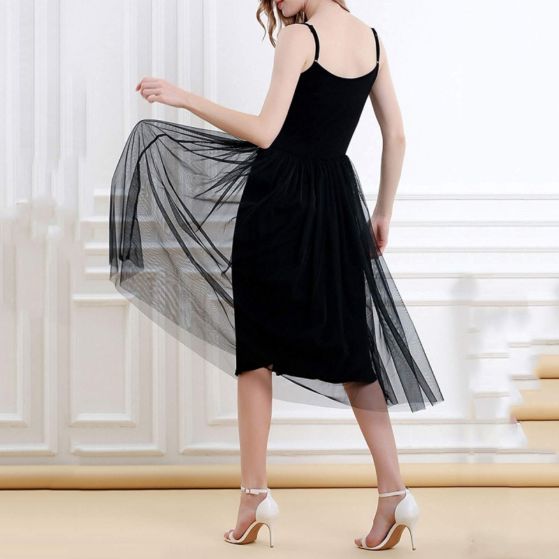 Summer Dress 2019 Spaghetti Strap Lace Dress Sexy Mid Calf Sleeveless Lace Party Dresses Black Princess Holiday Vestido Big Size in Dresses from Women 39 s Clothing