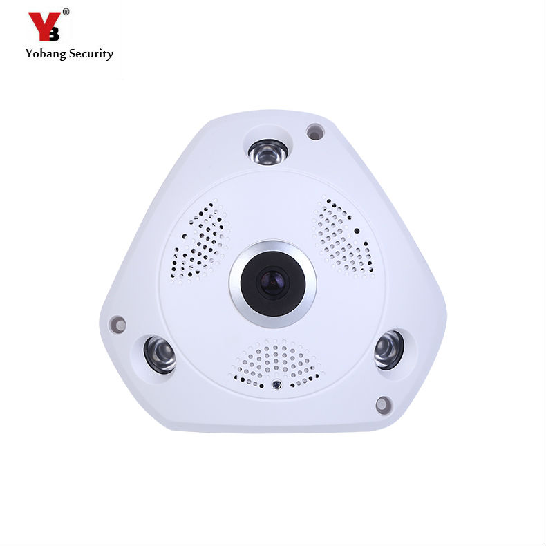 Yobang Security 3D fisheye 360 degree panoramic camera wireless WIFI HD VR night vision IP camera surveillance camera