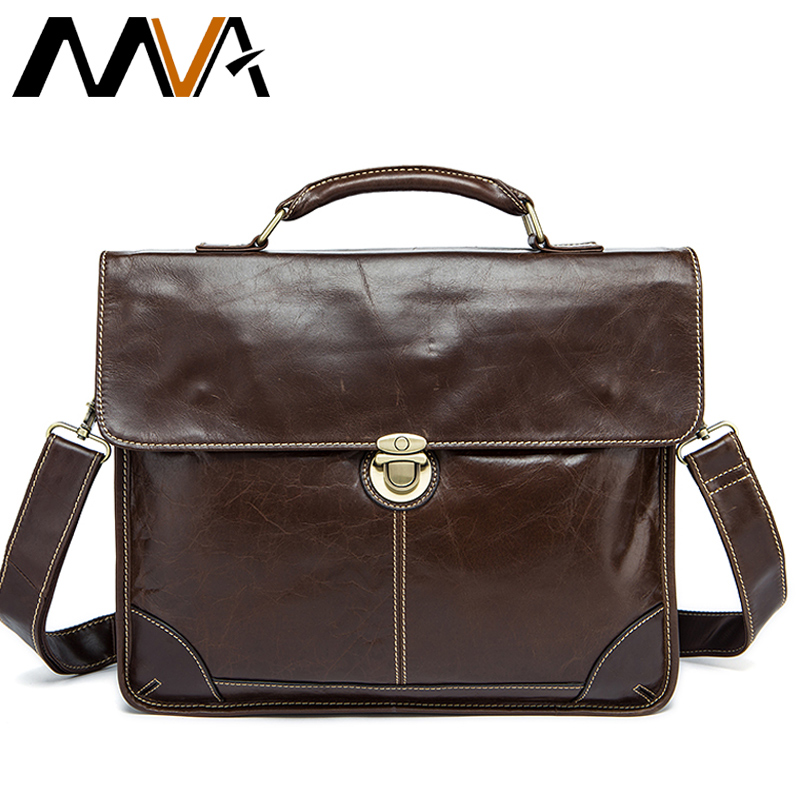 MVA Men's Bag for Documents Leather Briefcase Laptop Handbags Totes Bags Hasp Crossbody Messenger Bags Business Briefcase Men mva genuine leather men bag business briefcase messenger handbags men crossbody bags men s travel laptop bag shoulder tote bags