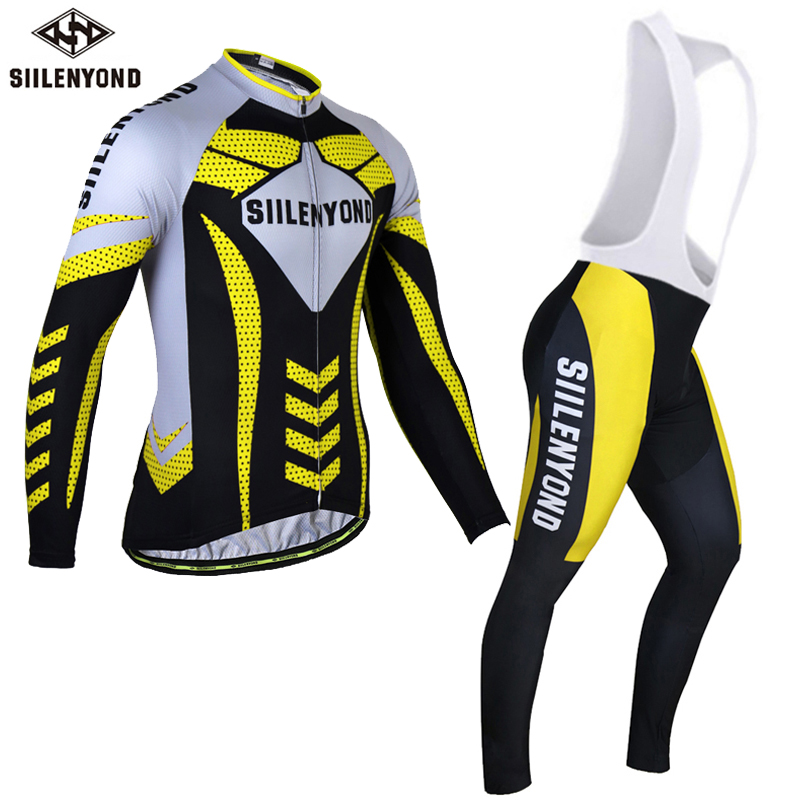 Siilenyond 2017 Cycling Jersey Set Winter Long Sleeve Bicycle Thermal Fleece Ropa Roupa De Ciclismo Invierno MTB Bike Clothing malciklo winter fleece thermal cycling jersey set long sleeve bicycle bike clothing pantalones ropa ciclismo invierno wears