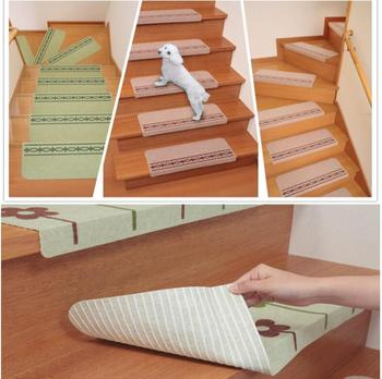 5pcs Cartoon Carpet Stair mats Self-Adhesive Stairs Carpet Non-slip Dark Safety Floor mat for kids Stair pad New mat