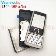 0f48b830546 Vecmnoday 10 unids/lote carcasa para Nokia 6300 carcasa completa para  teléfono móvil cubierta de batería marco de puerta con tec.