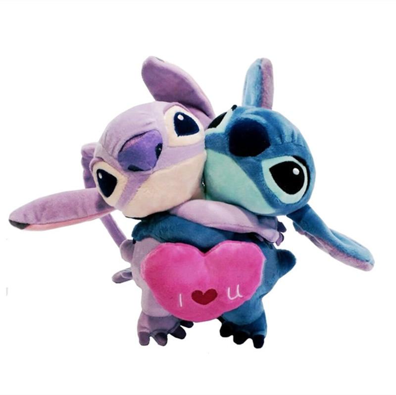 Disney Cute Kawaii Wallpaper Lilo And Stitch Plush Toy Love Heart Stitch And Angel Hug