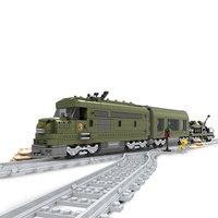Ausini Military Train Building Block Bricks Set 764pcs Construction Train Series 25003 Technic toys for children
