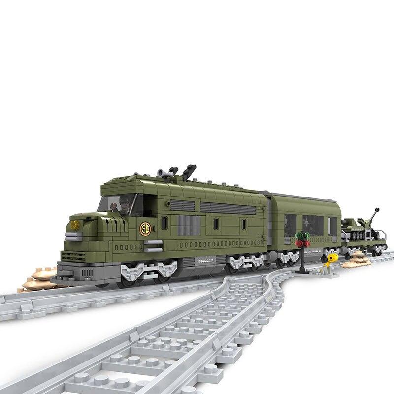 Ausini militaire Train bloc de Construction briques ensemble 764 pièces Construction Train série 25003 Technic jouets pour enfants