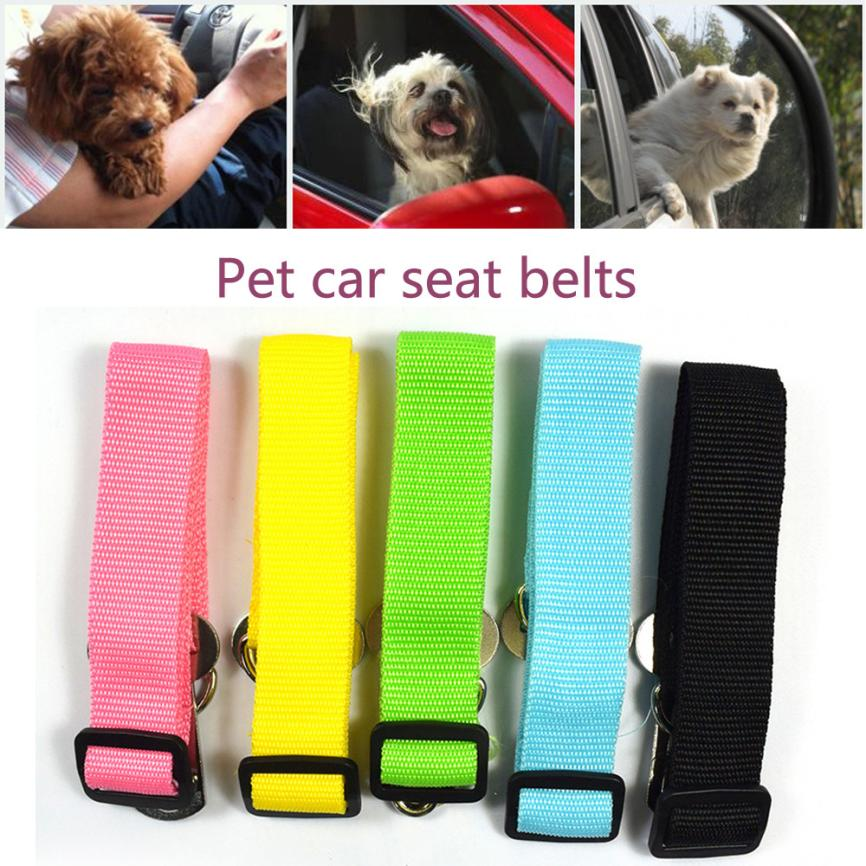 New Adjustable Dog Pet Car Safety Seat Belt Restraint Lead Travel Leash Pet Car Safety Seat Belt July24
