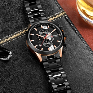 Image 5 - CURREN Fashion Design Watches for Men 2019 Luxury Brand Mens Watch Casual Sport Wristwatch Chronograph Stainless Steel Clock