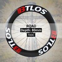 700c wheelset 80mm clincher tubeless carbon road wheels WRC 80
