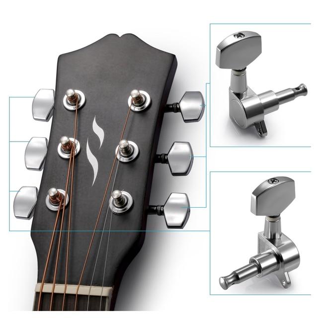 Irin 6 Pieces Sliver Acoustic Guitar Machine Heads Knobs Guitar