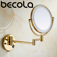 Star Hotel Engineer CHROME/GOLD LED Lights Vanity Cosmetic Magnifying Makeup Mirrors Bathroom magnification shaving Mirror with