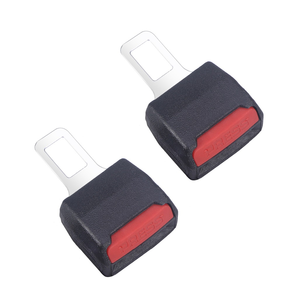 2pcs Universal Car Safety Seat Belt Buckle Seatbelt Clip Extender Extention Buckle Car Belt Socket Clip Extender Car Accessories eagle shaped buckle belt