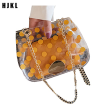 HJKL New pattern Brand Women clutch bags  Clear PVC Jelly Small Tote Messenger Bags Female Crossbody Shoulder Transparent