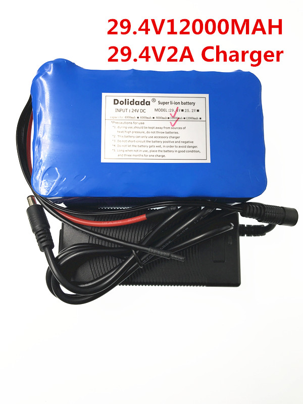 2018 New 29.4V 12000 mah 18650 Battery lithium battery 29.4v Electric Bicycle moped /electric/lithium ion battery pack+Charger 2016 promotion new standard battery cube 3 7v lithium battery electric plate common flat capacity 5067100 page 5