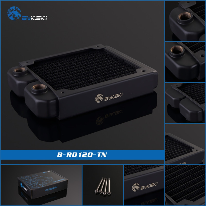 Bykski B-RD120-TN, 120mm Single Row Radiators, 28mm Thickness, Standard Water Cooling Radiators , Suitable For 120*120mm Fans 520w cooling capacity fridge compressor r134a suitable for supermaket cooling equipment