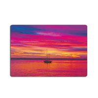 Personalized Sailing Boat Sunset Over The Sea Door Mats Indoor Bathroom Kitchen Decor Rug Mat Welcome