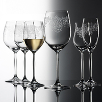 High quality Creative Carved flowers crystal Glass cup Transparent goblet Party beer wine glass water glass cup Drinking Ware