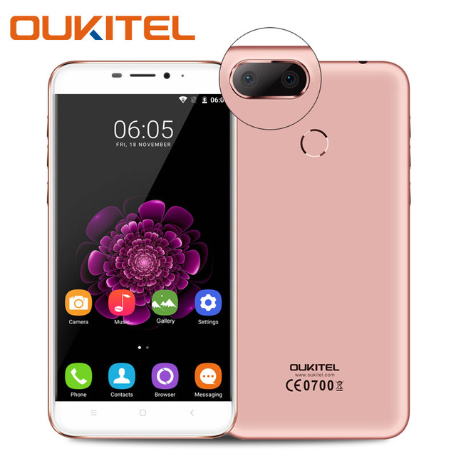 Oukitel U20 Plus 5.5 inch 4G Smartphone MT6737 Quad Core 2GB RAM 16GB ROM Android 6.0 Mobile Cell Phone Dual SIM 13.0MP GPS WiFi