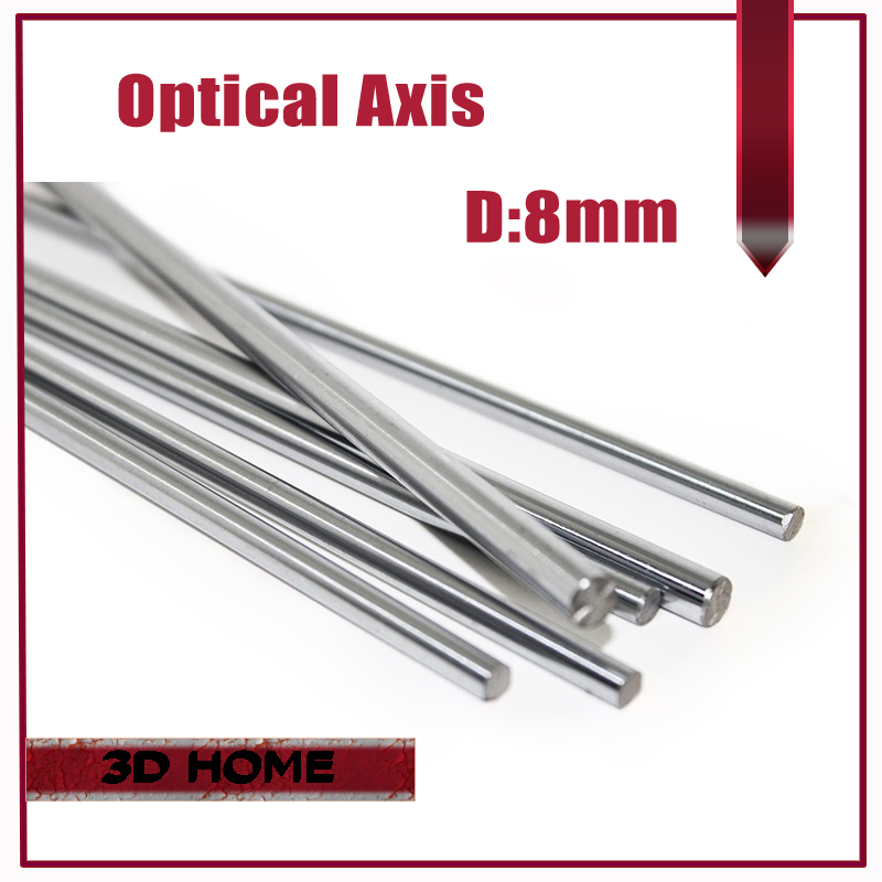 1pcs OD 8mm x 200/300/400/500mm Cylinder Liner Rail Linear Shaft Optical Axis chrome For 3D Printer Accessory for CNC cnbtr od 8mm x 400mm cylinder liner rail linear shaft optical axis good strength