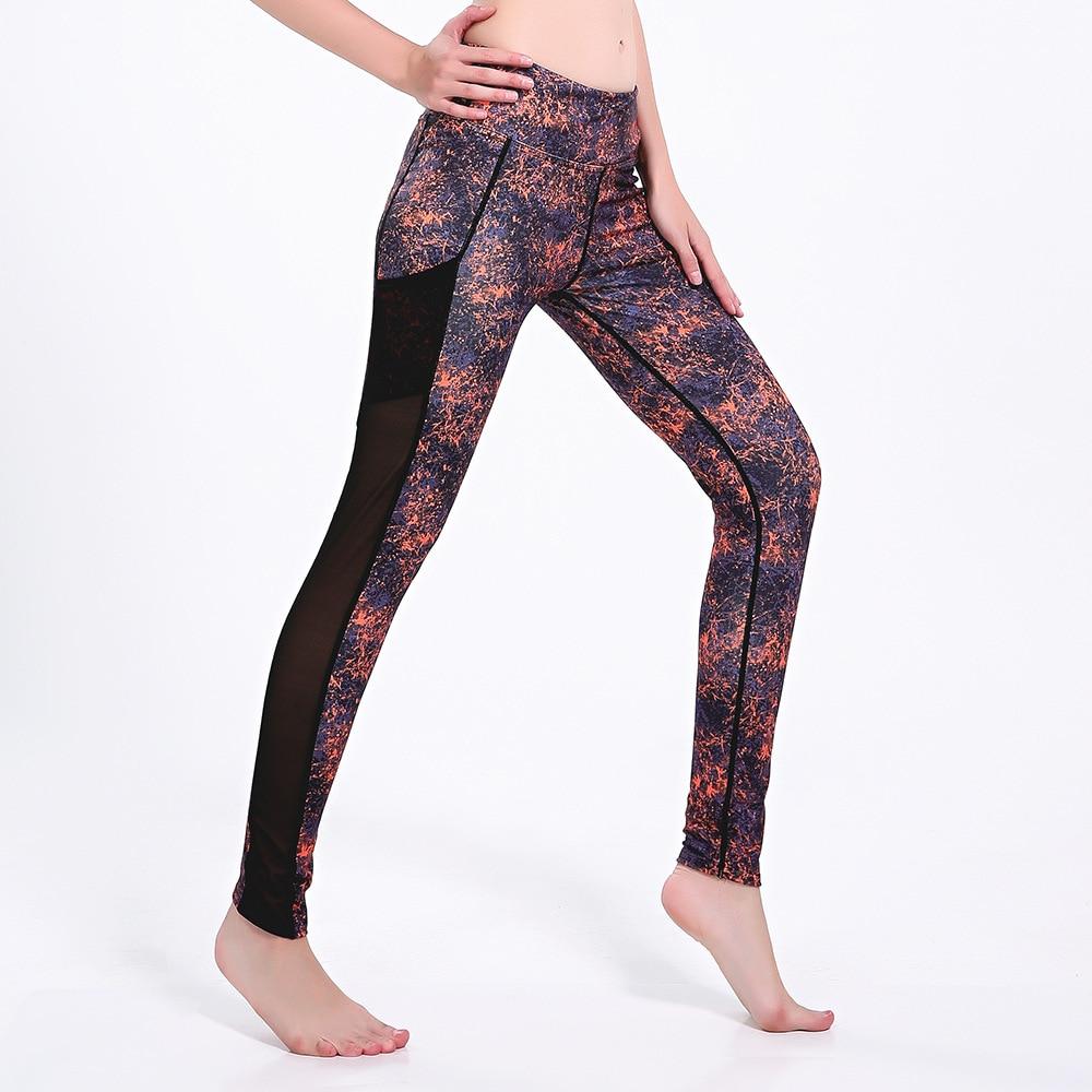 0cae37fa2 Orange purple Mesh athletic legging feminina para esporte sportkleding  vrouwen mallas mujer deportivas women compression pants-in Yoga Pants from  Sports ...