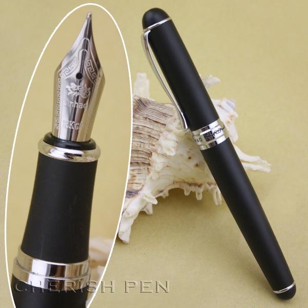 Jinhao X750 Noble Grind Arenaceous Černá a stříbrná inkoustová pera Inkoust / ocel / kov / výkonný / jemný / plnicí pero Doprava zdarma