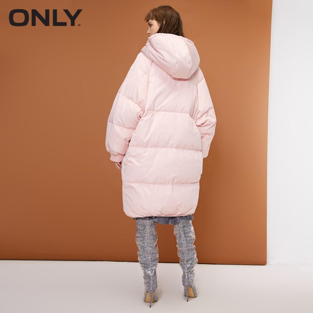 NUR und weise frauen winter neue mit kapuze weiße ente unten lange unten jacke Multi-pocket-design raglanärmel | 118312575