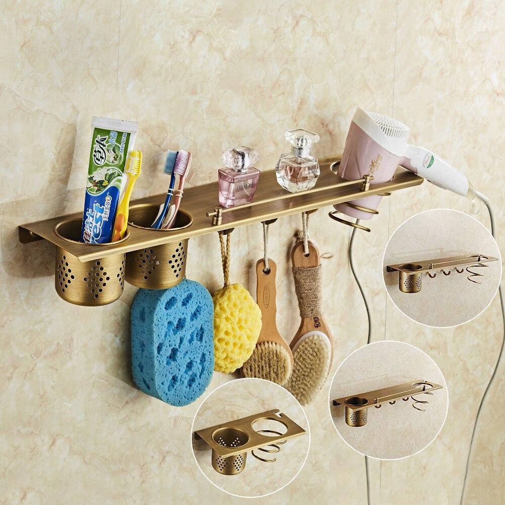 Bad Hardware Wand Montiert Antique Copper Brushed Zahnbürstenhalter Küche Lagerregal Apppliance Halter Werkzeuge Halter Küche Veranstalter Schrumpffrei