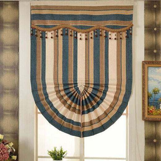 Included Curtains 2015 Classical Fashion Chenille Material Roman Shade  Blinds Custom Curtain Free Shipping(China