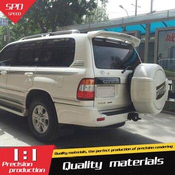 For Land Cruiser FJ100 4700 Spoiler ABS Material Car Rear Wing Primer Color Rear Spoiler For Toyota Land Cruiser Spoiler 98-07 180sx led ヘッド ライト