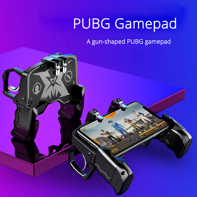 PUBG Mobile Joystick Gamepad Gun type Grip PUBG Controller For Phone L1R1 Trigger Fire Buttons For iPhone Android IOS