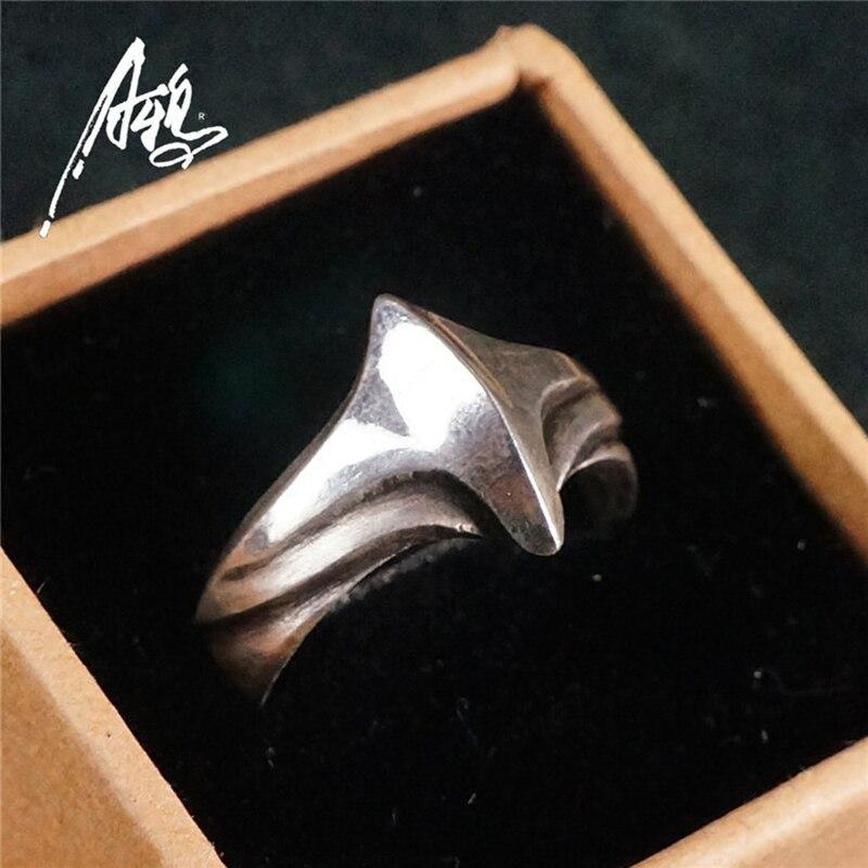 Fait à la main Simple conception anneau 925 argent unisexe bijoux ailes de forme de vol pour femmes hommes nouvel an cadeau