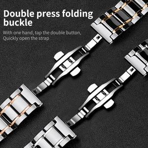 Image 3 - 20 мм 22 мм керамический ремешок для часов AMAZFIT Pace/Amazfit Stratos 2 3 /Amazfit Bip для Samsung Gear S3 Frontier керамический ремешок