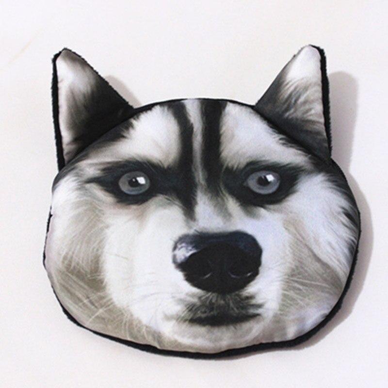 3D cute girl wallet bag ladies face zipper mini cat coin purses dog childrens purse plush coins pouch Unisex portefeuille femme