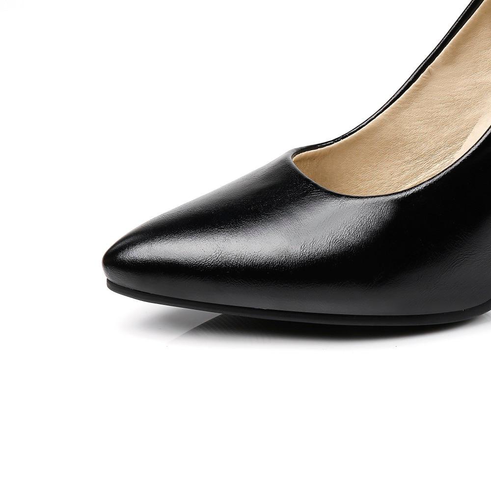 LAFS CSTLAV Dasar Tumit Tinggi 9 cm Pompa Wanita Nyaman Gaun Kasual - Sepatu Wanita - Foto 5