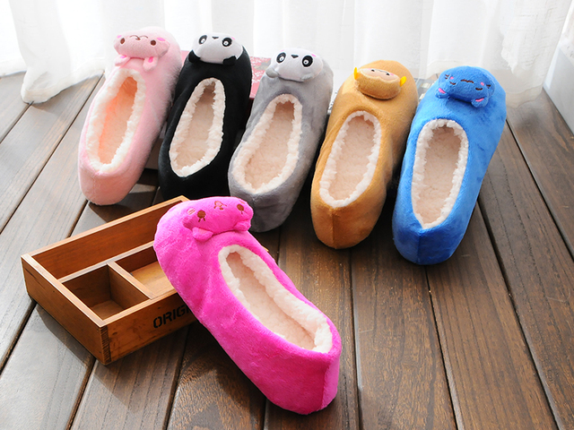 SIKETU 2017 New Winter Couples Cotton Slippers  Indoor Slippers, Winter New Cartoon Slippers  Mail Lovely Men and Women