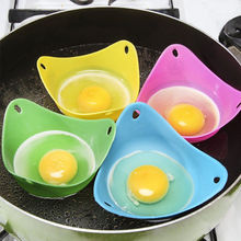 Practical 1pc Silicone Pancake Egg Baking Cup Poacher Cook Poach Pods  Poached Tools Kitchen Accessories Random Color