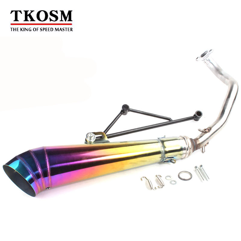 купить TKOSM EXHAUST Motorcycle GY6 Scooter Exhaust QMB139 139QMA 50CC Scooter GY6 Exhaust ATV GY6 125 150CC 157QMJ Scooter Exhaust по цене 3182.96 рублей