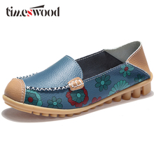 2018 NOUVEAU Printemps Femmes Véritable Ballerines En Cuir Casual Chaussures Femmes Fille Bout Rond Slip-on Appartements Femelle Mocassins Ballerine Appartements