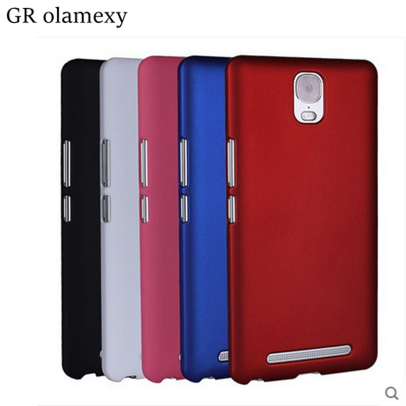 "GR olamexy Matte Hard Plastic PC Back Case for Pelephone GINI E6 Plus E6+ 6.0"" Mobile Phones Shell Covers + Free Shipping"