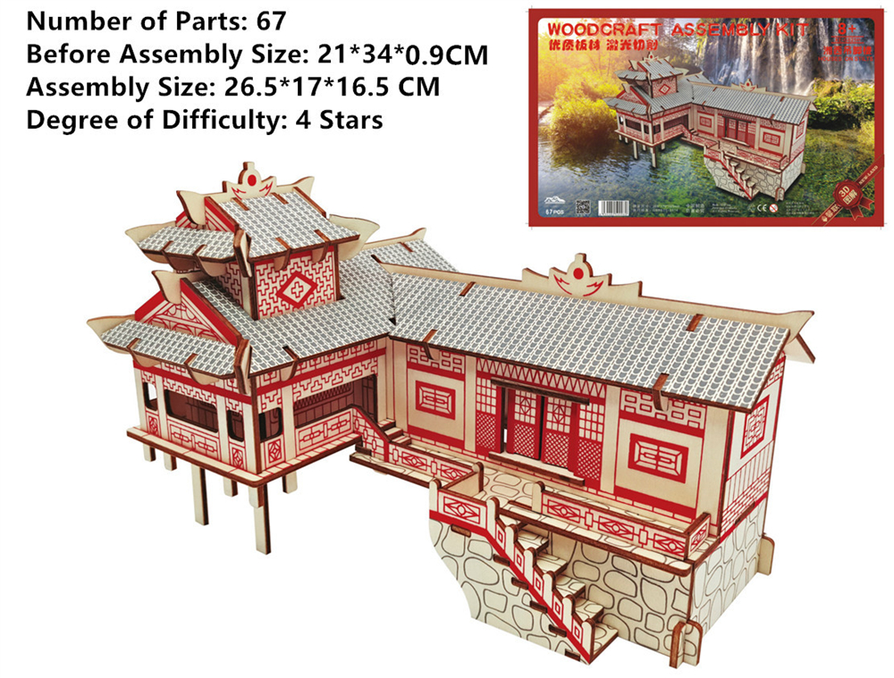 New Assembly Diy Education Toy 3d Wooden Model Puzzles For