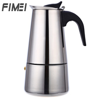 FIMEI Portable Stainless Steel Coffee Maker Pot Mocha Latte Percolator Stove Espresso Machine With 100ML 200ML