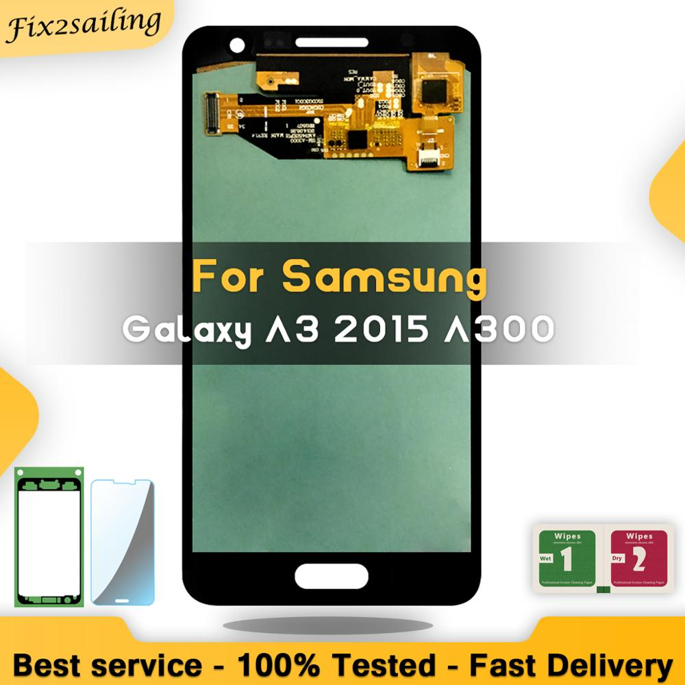 Super AMOLED LCD For SAMSUNG Galaxy A3 2015 Display A300 A300H A300F A300FU Touch Screen Digitizer Assembly ReplacementSuper AMOLED LCD For SAMSUNG Galaxy A3 2015 Display A300 A300H A300F A300FU Touch Screen Digitizer Assembly Replacement