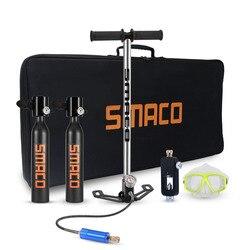 2019 NEUE SMACO Tauchen Ausrüstung Mini Scuba Tauchen Zylinder Scuba Sauerstoff Tank Luft Ventil für Schnorcheln Unterwasser Atmen Kits