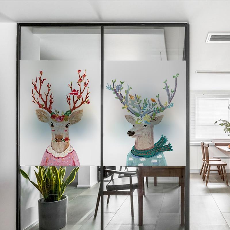 Free Custom Size Decorative Glass Window Film Static Cling