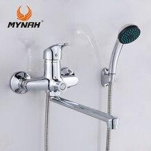 MAINÁ Rússia frete grátis torneira Do Banheiro misturador do banho de chuveiro torneiras Chuveiro sistema Tropical Chuveiro rack de Chuveiro com misturador de cobre