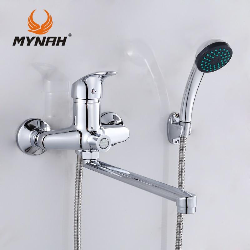 MYNAH Russia spedizione gratuita rubinetto del Bagno rubinetti doccia miscelatore vasca Doccia sistema Doccia Tropicale Doccia cremagliera con miscelatore di rame