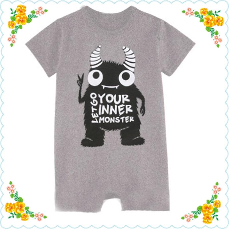 2020 Vajza për djem të porsalindur Vajza jumpsuit foshnje pambuku Rompers Verë me mëngë të shkurtër Rroba të vogla Vogël Karakteri unisex O-Qaf