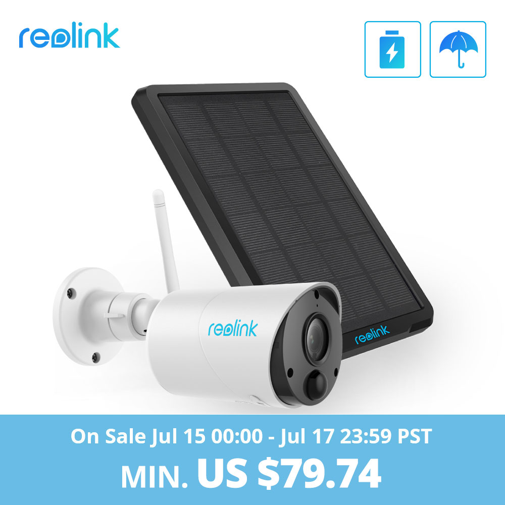 Reolink Argus Eco And Solar Power Charging WiFi Camera 1080P Full HD Security IP Cam Outdoor Indoor Video Surveillance With PIR(China)