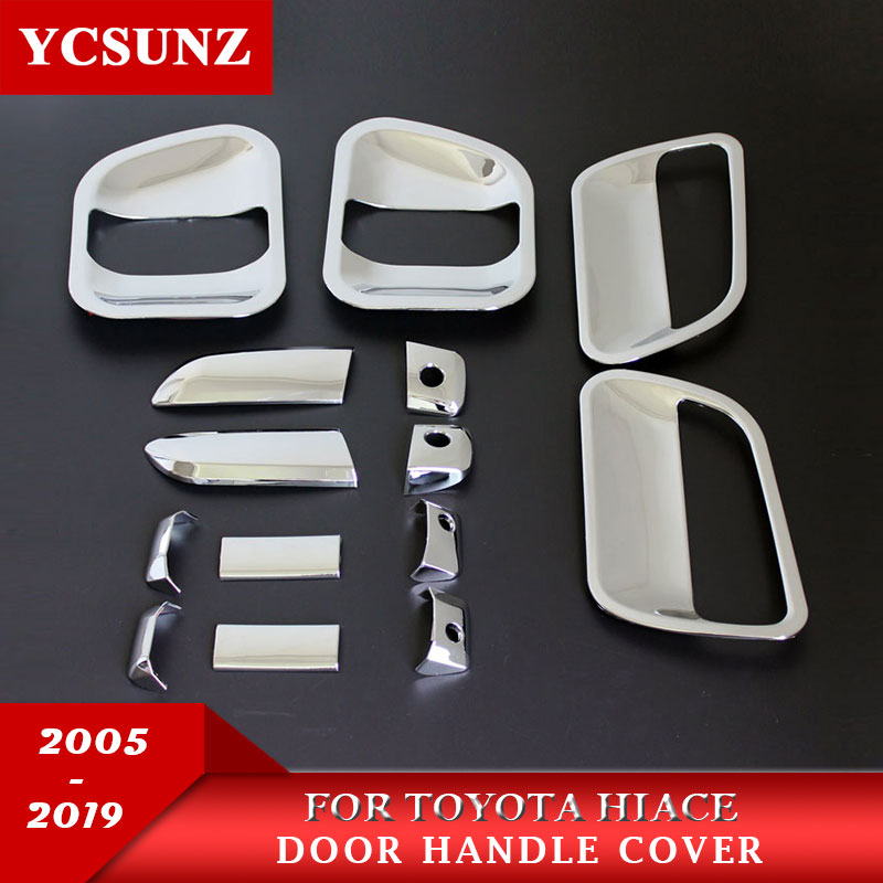 2005-2017 Door Handle Cover For Toyota Commuter Chrome Black Carbon Fiber Accessories For Toyota Hiace 2016 Car Parts Ycsunz 2005 2017 door handle cover for toyota commuter chrome black carbon fiber accessories for toyota hiace 2016 car parts ycsunz