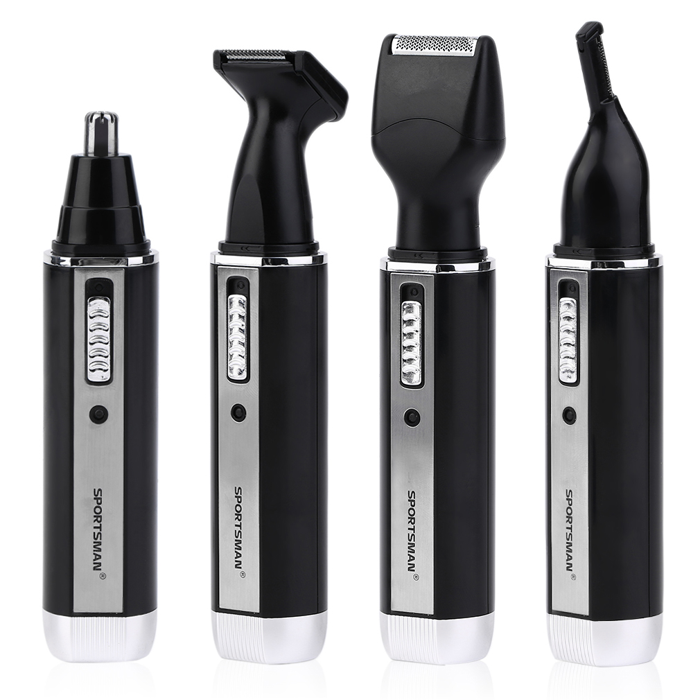 4 In 1 Waterproof Electric Men Male Ear Nose Trimmer Rechargeable Hair Clipper Shaver Beard Trimmer Underarms Hair Shaver men hair removal women shaver with pivoting head male mustache beard eyebrow hair trimmer shaver machine safe lighted epilator